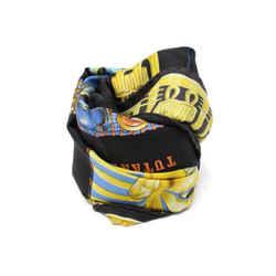 Hermes Black Multicolor Tutankamun Print Silk Scarf