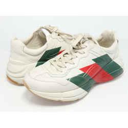 Gucci Calfskin Web Printed Rhyton Sneakers