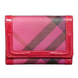 Burberry Nova Pop Degrade Wallet In Raspberry Sorbet