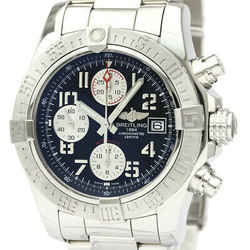 Polished BREITLING Avenger ll Chronograph Steel Automatic Watch A13381 BF535036