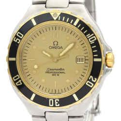 Polished OMEGA Seamaster Professional 18K Gold Steel Watch 396.1042 BF516515