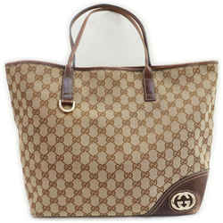 Gucci Brown Monogram GG New Britt Tote 861210