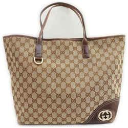 Gucci Brown Monogram GG New Britt Tote 861210