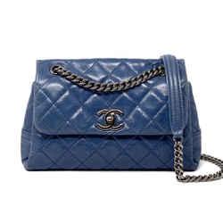 Chanel Lambskin Flap Bag Blue SHW