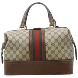 Gucci Sherry Web Trunk Duffle Boston Carry On Luggage Boston Bag  862012