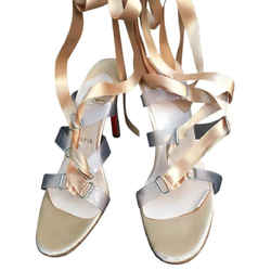 Christian Louboutin Nymphette Nude Heels Sandals Size: US 8.5