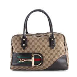 Gucci Monogram Hasler Shoulder Bag