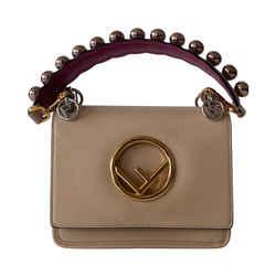 Fendi Kan I F Embroidered Leather Bag