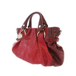 Vintage Authentic Celine Red Python Leather Leather Handbag Italy