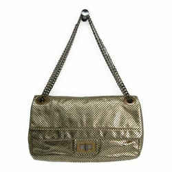 Chanel 2.55 Matelasse Women's Leather Shoulder Bag Gold FVGZ000041