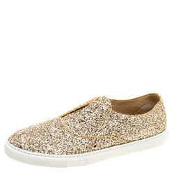 Fratelli Rossetti Gold Glitter Slip On Sneaker Size 39