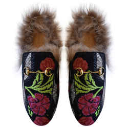 Gucci Princetown Floral Brocade Slippers - US 9  UK 6  EU 39