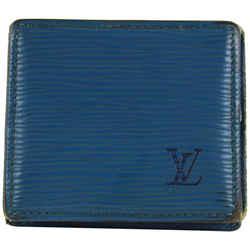 Louis Vuitton Blue Epi Leather Toledo Collapsible Mini Boite Case 23lvs1223