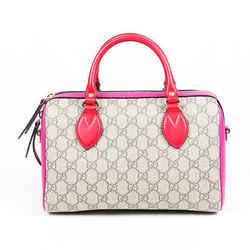 Gucci Bag Boston Small GG Supreme Beige Pink Satchel