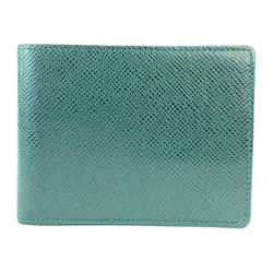 Louis Vuitton Taiga Green Leather Men's Bifold Wallet 9L1111