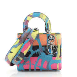 Lady Dior Art Bag Limited Edition Chris Martin Printed Leather Medium