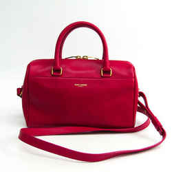 Saint Laurent Baby Duffle 330958 Women's Leather Handbag Pink BF330658