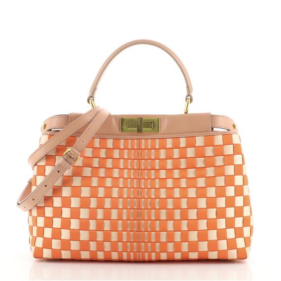 Peekaboo Bag Woven Satin Regular