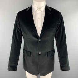 Theory Size 38 Black Cotton Velvet Notch Lapel Sport Coat