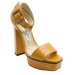 Jimmy Choo Jax Ocra Platform Sandals
