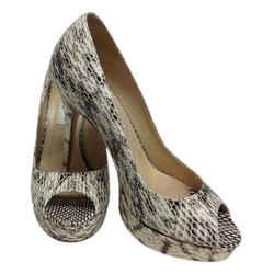 Jimmy Choo Cream Natural Python Peep Toe Platform Pumps Size: US 8 Regular (M, B) Item #: 21139896