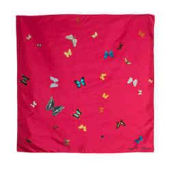 Alexander Mcqueen Butterfly Silk Scarf