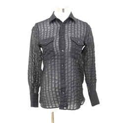 Saint Laurent Black Cotton Stripes Shirt Sz 2