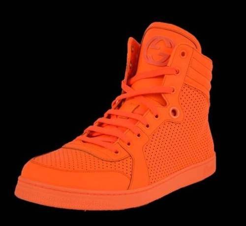 New Gucci Men's 322730 Neon Orange Hi
