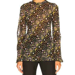 Chloe Black Eye Blossom Print Blouse