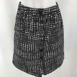 Theory Black Printed Skirt 2