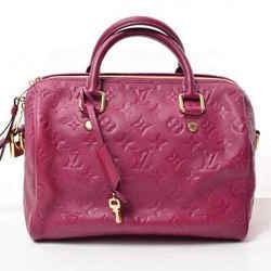 Auth Louis Vuitton Louis Vuitton Amplant Speedy Bandolier 25 Boston Bag Leysin L