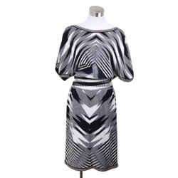 Missoni Black White Wool Plaid Dress Sz 2