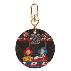 Round Illustre Keychain Limited Edition Vivienne Xmas Monogram Canvas