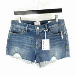 30 - Frame Denim Dark Wash Distressed Le Cutoff Jean Shorts NEW NWT 0716MD