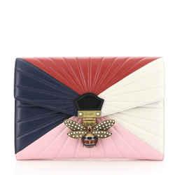 Queen Margaret Clutch Colorblock Leather