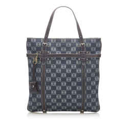 Blue Loewe Printed Anagram Tote Bag