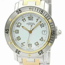 Polished HERMES Clipper Diver Chronograph Quartz Mens Watch CL7.720 BF534152