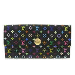 Auth Louis Vuitton Louis Vuitton Multi Portofeuil Sara Long Wallet Noir M93533 L