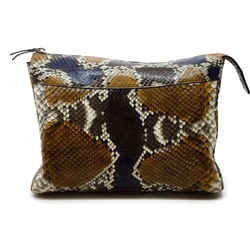 The Row Multicolor Python Skin Leather Clutch