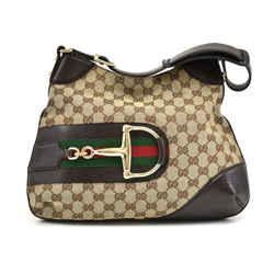 Hasler Monogram Canvas Horsebit Hobo Bag