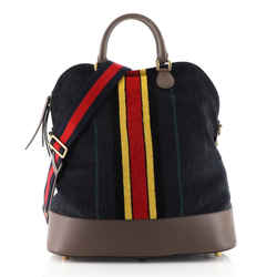 Web Convertible Dome Satchel Printed Chenille Jacquard Large