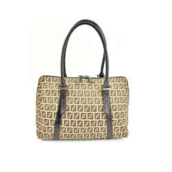 "Fendi: Dark Brown, Leather & ""ff"" Logo Medium Tote/shoulder Bag (px)"