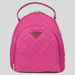 NEW Prada Nylon Fuchsia Pink Zaino Quilted Tessuto Impuntu Backpack Rucksack Bag
