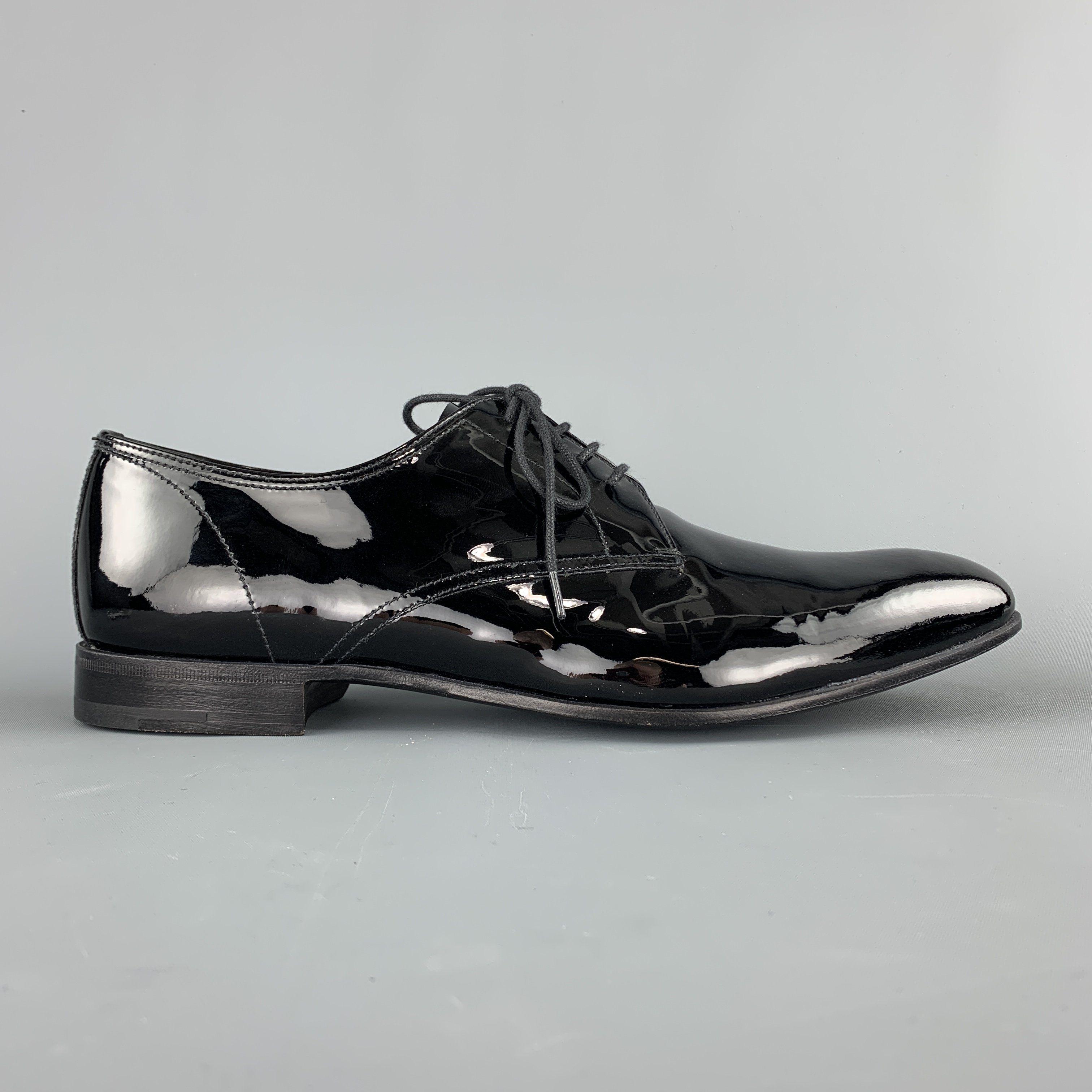 Prada Size 9.5 Black Patent Leather