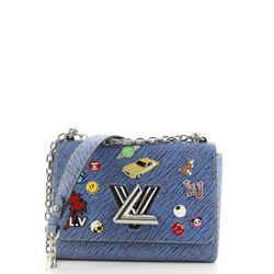 Twist Handbag Limited Edition Pin Embellished Epi Leather MM