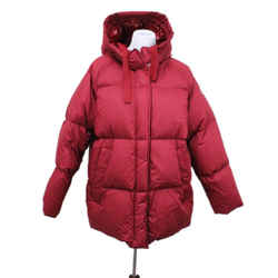 Moncler Red Polyamide Down Coat Sz 12