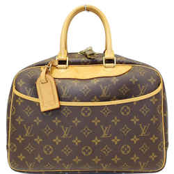 Louis Vuitton Deauville Monogram Canvas Boston Satchel Bag Brown