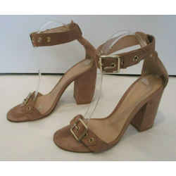 Gianvito Rossi Beige Suede Hayes Ankle Strap Sandals - Size 38