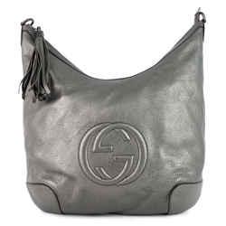 Soho Chain Pebbled Calf Leather Hobo Bag