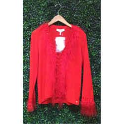 Escada Size 38/8 Red Cardigan